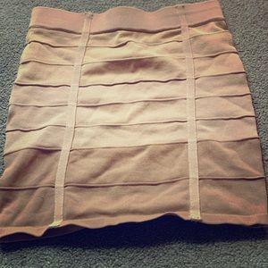 Multi Tan Mini Skirt